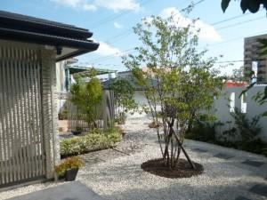 シンプルな庭園