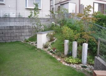 施工半年後の庭