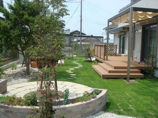 花と緑の庭