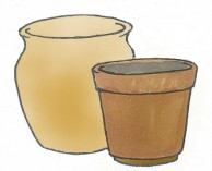 テラコッタ・素焼き鉢