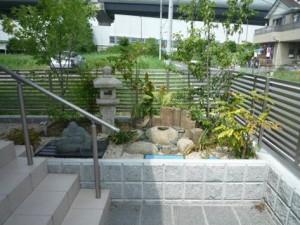 茨城 石材を豊富に使用したお庭