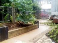 真砂土で舗装お庭